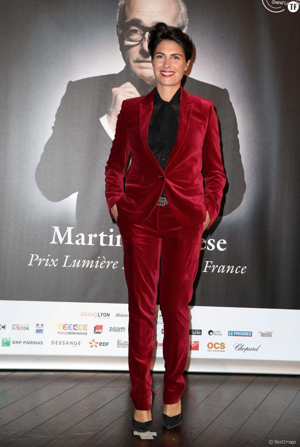 Alessandra Sublet - Photocall de la cérémonie de remise du prix Lumière à Martin Scorsese lors du festival Lumière 2015 (Grand Lyon Film Festival) à Lyon. Le 16 octobre 2015