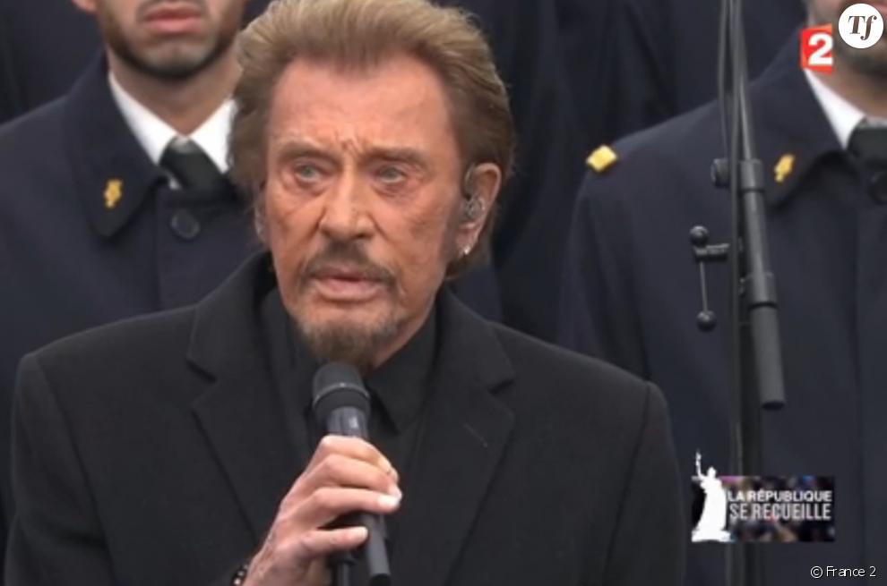 Johnny Hallyday place de la République le 10 janvier