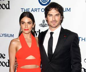 "Nikki Reed et son mari Ian Somerhalder - 9 ème Gala Annuel ""The Art Of Elysium"" à Culver City le 9 janvier 2016."