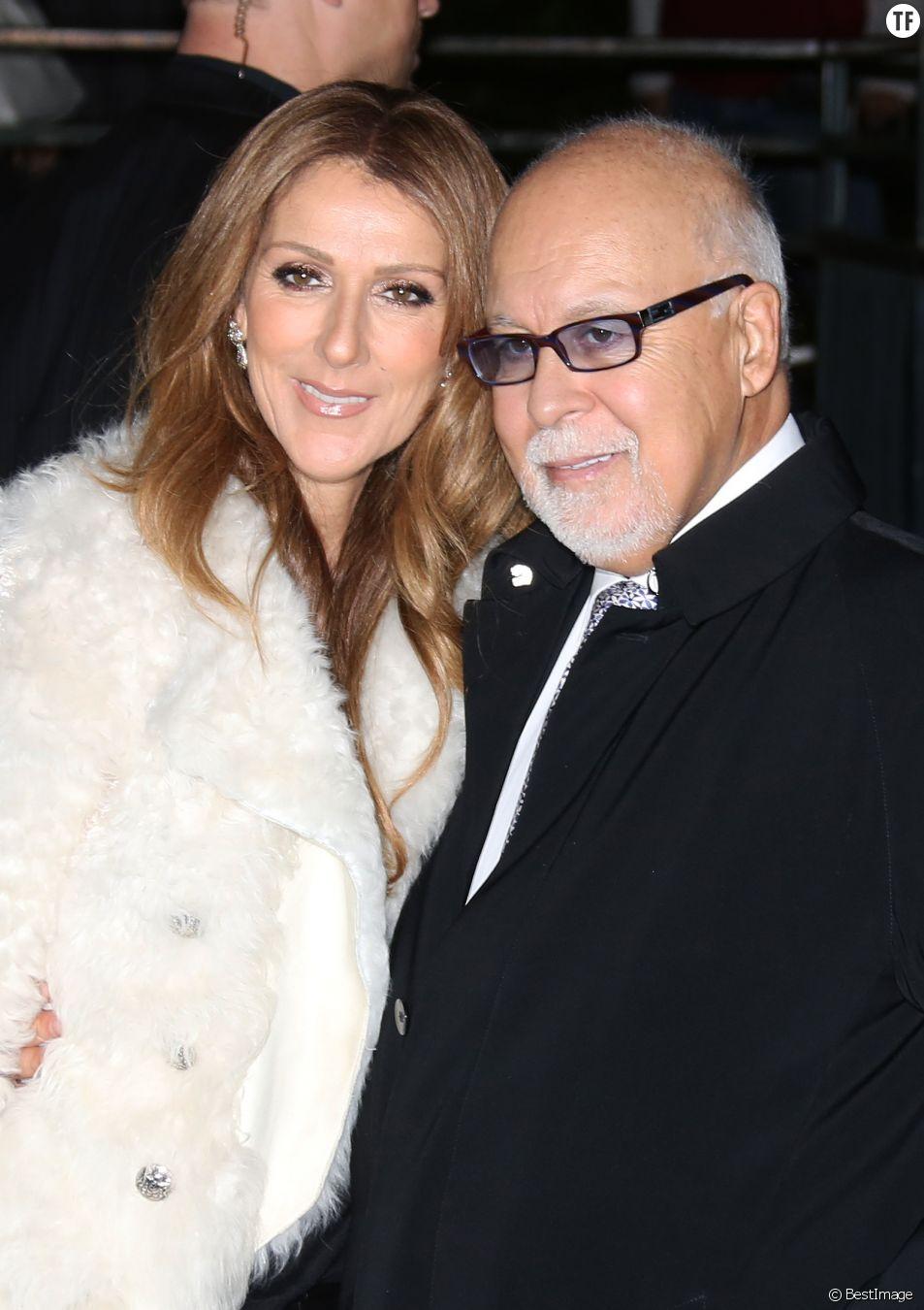 """Celine Dion et son mari Rene Angelil arrivent a l'enregistrement de l'emission """"Vivement dimanche"""" au studio Gabriel a Paris le 13 novembre 2013."""