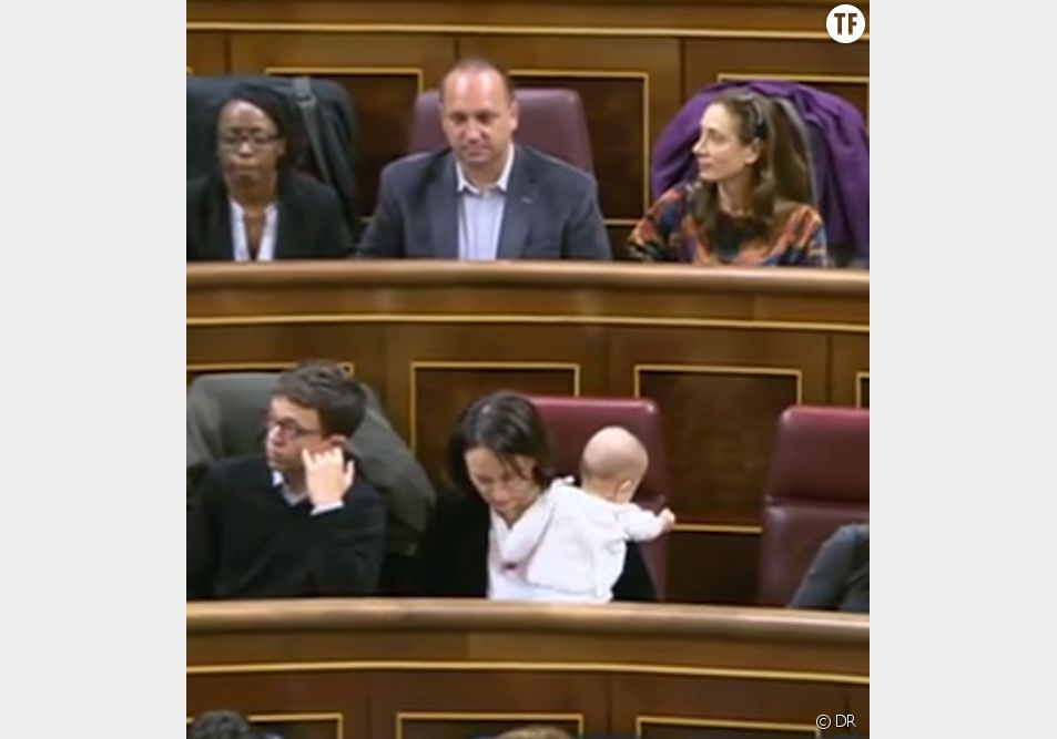 En Espagne, un bébé au parlement devient le symbole de l'équilibre vie pro-vie perso