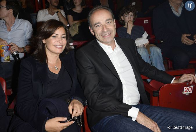 jean francois cope et sa femme nadia people au concert de patrick bruel a bercy le 22 06 2013. Black Bedroom Furniture Sets. Home Design Ideas
