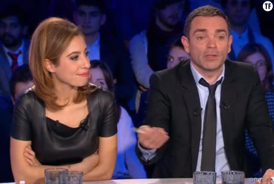 Yann Moix et Léa Salamé dans On n'est pas couché