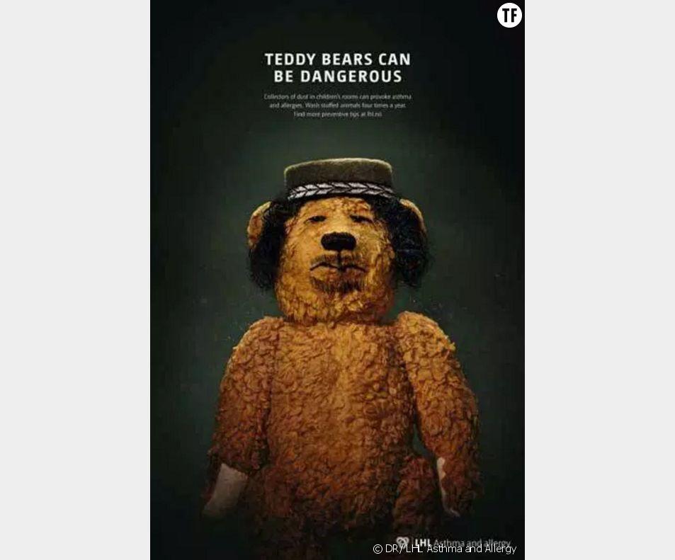 Un ours grimé en Khadafi