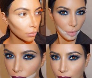 Le contouring de Kim Kardashian