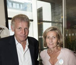 "Patrick Poivre d'Arvor et Claire Chazal - 11ème édition du ""BGC Charity Day"" à Paris le 11 septembre 2015 en mémoire aux 658 collaborateurs du groupe BGC partners (leader mondial du courtage interbancaire) disparus il y a 14 ans dans les attentats du World Trade Center le 11 septembre 2001."