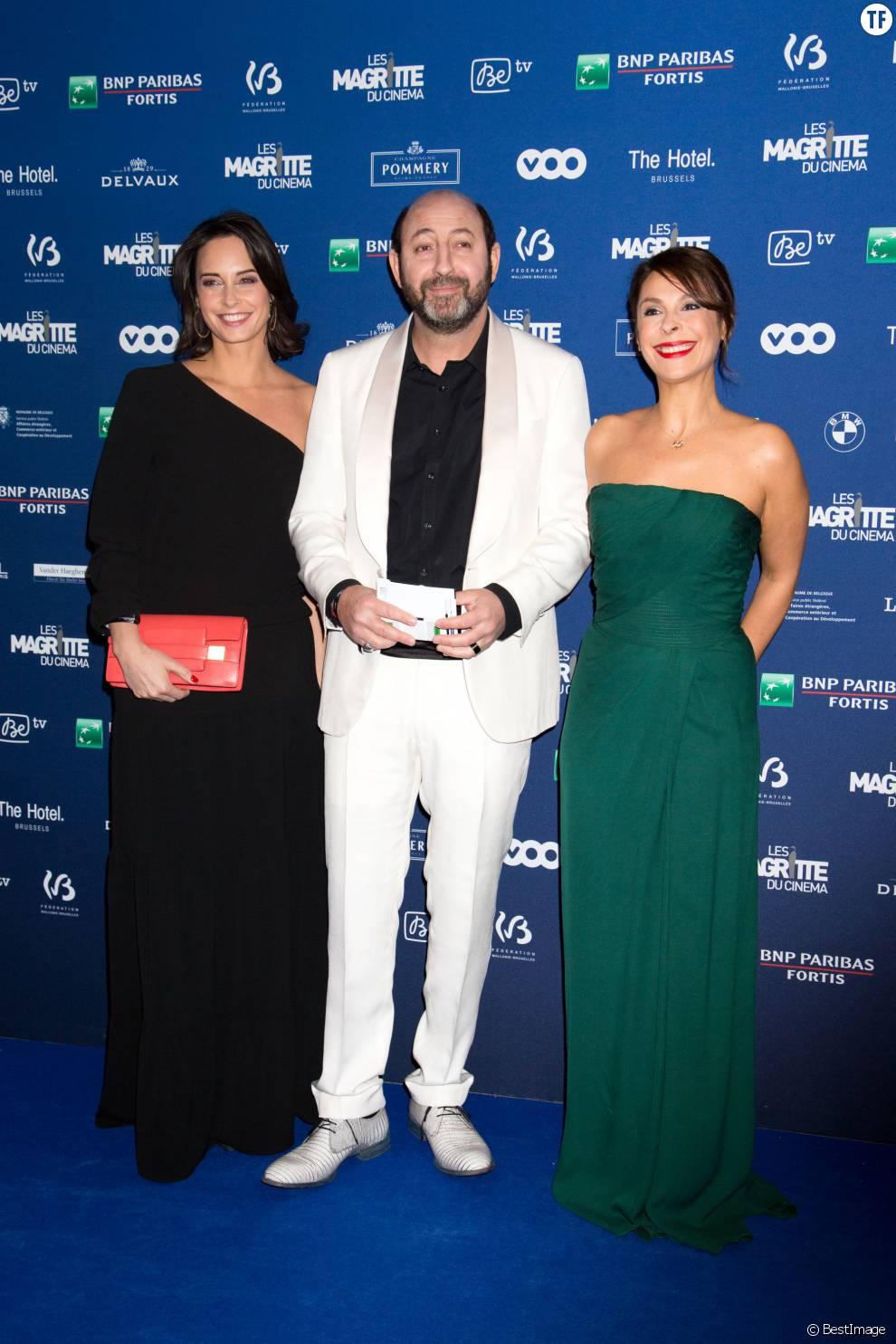 Kad Merad et sa compagne Julia Vignali, Tania Garbarski - 6ème édition de la cérémonie des Magritte du cinéma à Bruxelles en Belgique le 6 février 2016.