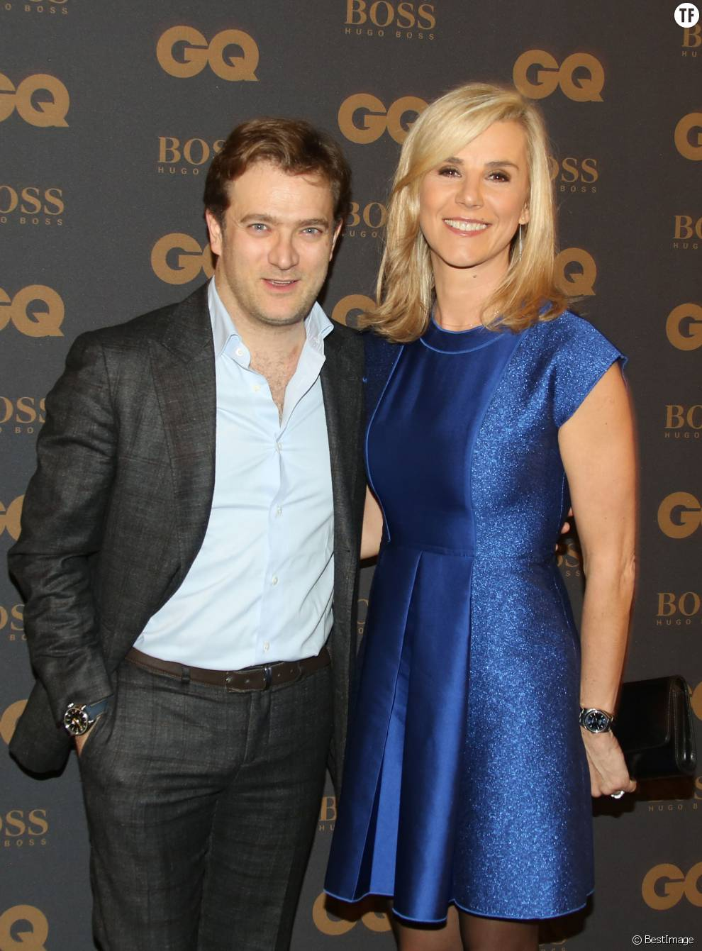 Laurence Ferrari and her second husband Renuad Capucon