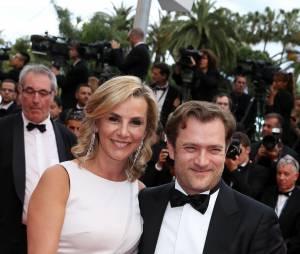 """Laurence Ferrari et son mari Renaud Capuçon - Montée des marches du film """"Irrational Man"""" (L'homme irrationnel) lors du 68ème Festival International du Film de Cannes, à Cannes le 15 mai 2015."""