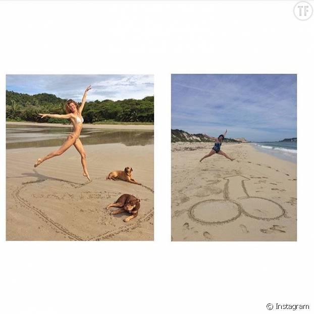"""""""Je vis dans un rêve"""": parodie de la photo de vacances de Gisele Bündchen (©Instagram celestebarber )"""