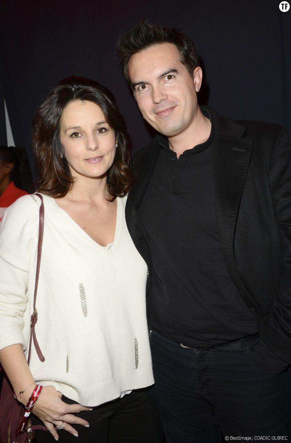 Faustine Bollaert et son mari Maxime Chattam