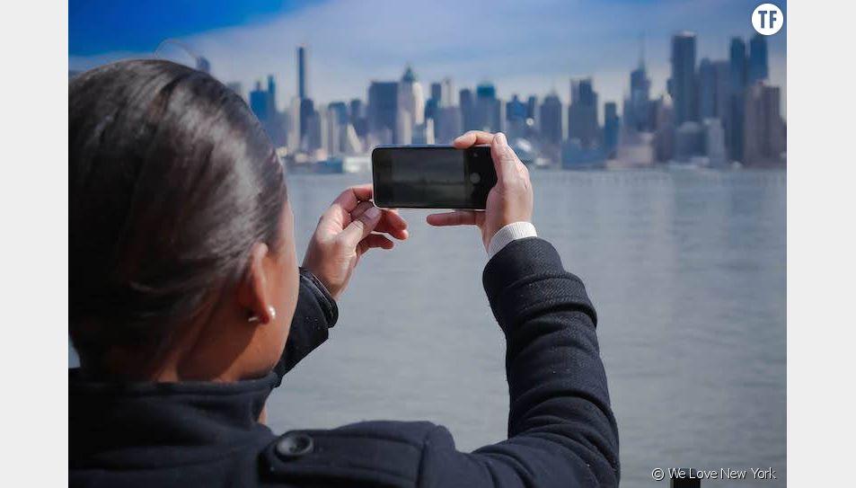 Vivianne de We Love New York en pleine séance de shooting