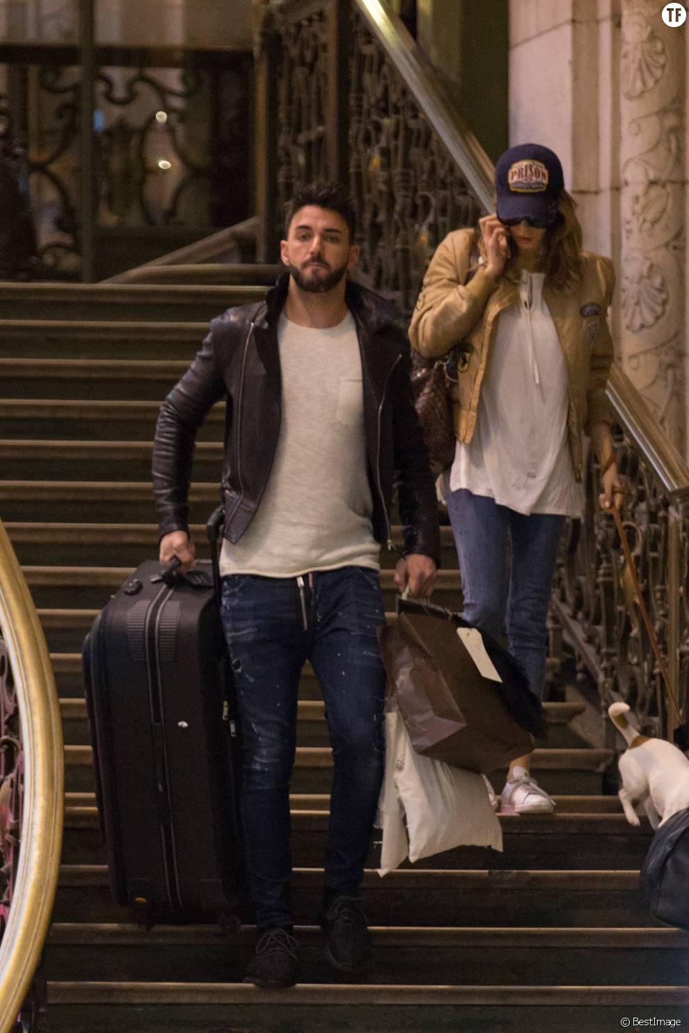 Nabilla et Thomas à Paris le 8 avril 2016