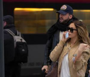 Nabilla et Thomas à Paris le 8 avril 2016