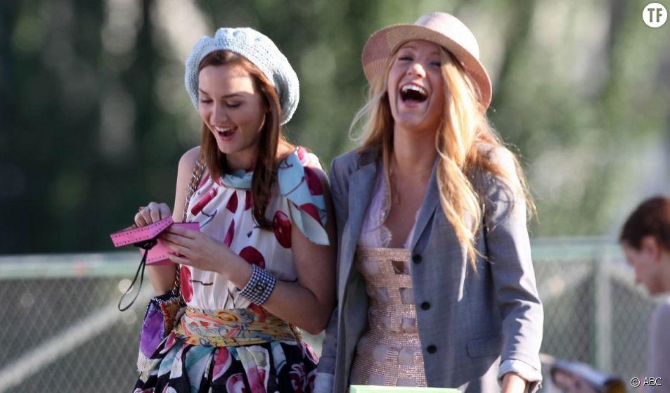 Les meilleures amies Blair et Serena dans la série Gossip Girl