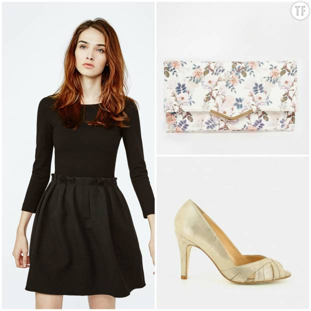 Look petite robe noire pour un mariage