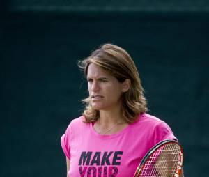Amélie Mauresmo enceinte en juillet 2015 entraîne Andy Murray