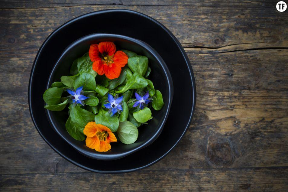 5 fleurs comestibles à préparer en salade