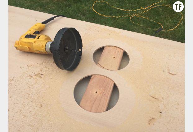 Découpez les cercles avec une scie circulaire