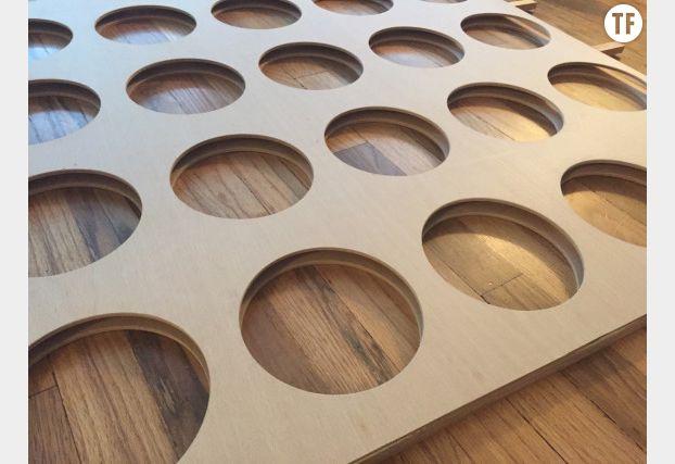 Coller les planches de bois