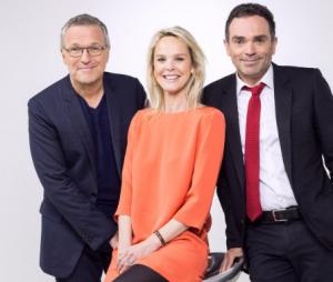 Laurent Ruquier, Vanessa Burggraf, et Yann Moix