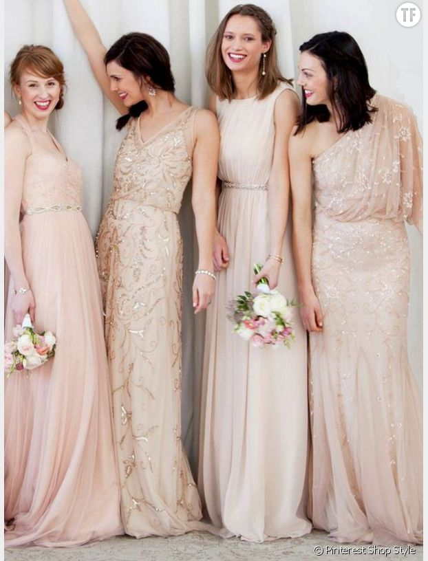 Voici les robes de demoiselles d 39 honneur les plus tendances du moment terrafemina - Robe dame d honneur ...