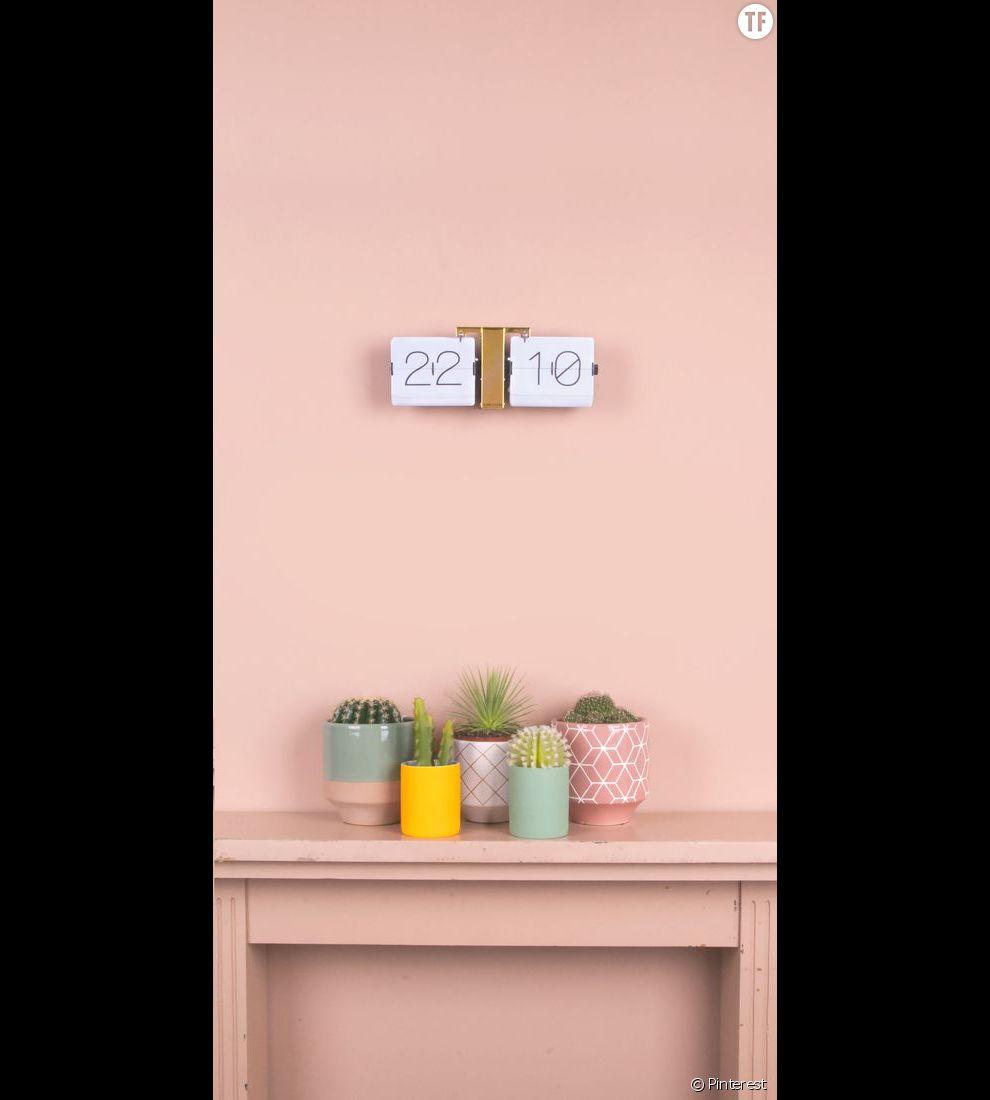 Idée de déco n°2 : des cactus dans des pots pastels et graphiques