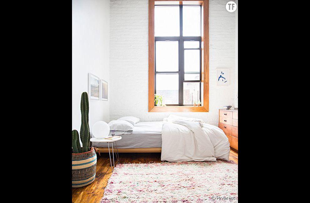 Idée déco n°13 : un cactus dans une chambre épurée