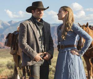 Evan Rachel Wood et James Marsden dans Westworld