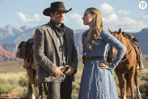 Evan Rachel Wood et James Marsden dans Westworld