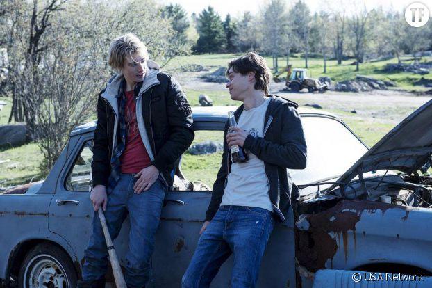 James Paxton et Tyler Young dans la série Eyewitness