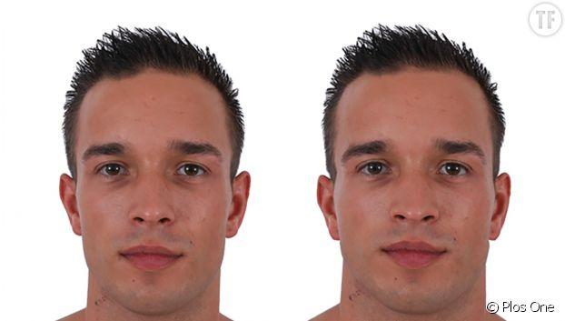 A gauche un homme de corpulence normale, à droite, le même en surpoids.