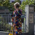 On aime cette maxi robe couvrante multicolore !