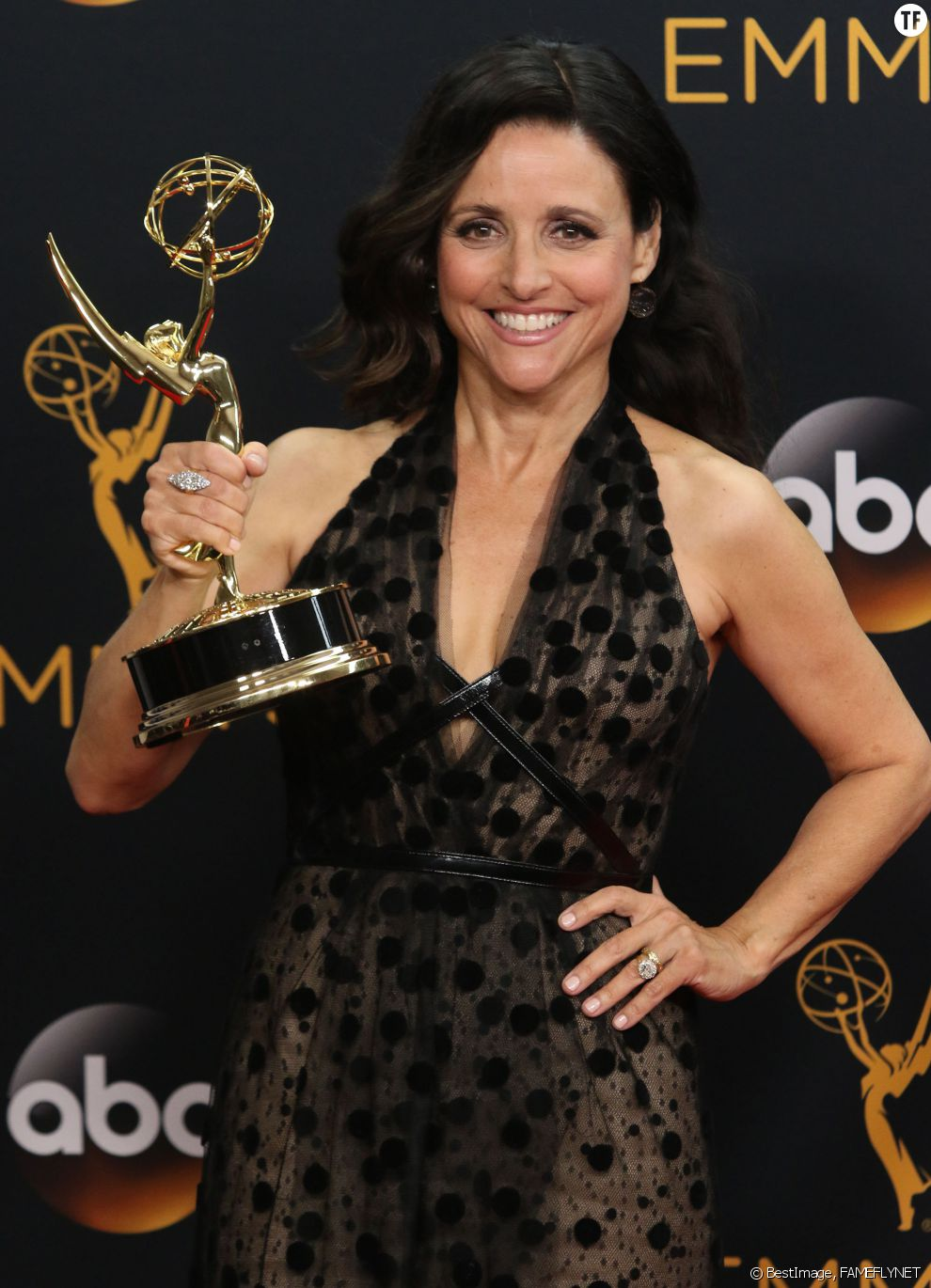 Julia Louis-Dreyfus à la 68ème cérémonie des Emmy Awards à Los Angeles, le 18 septembre 2016