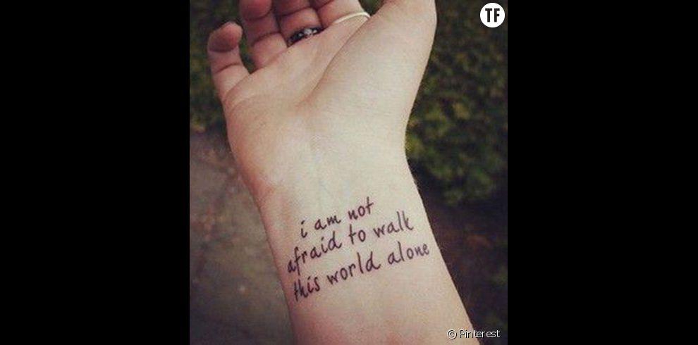 Idées Tatouage Citation Je N Ai Pas Peur De Marcher Seul