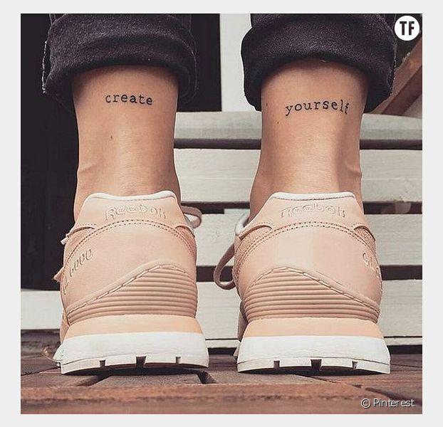"""Idées tatouage citation : """"Crées-toi toi-même"""""""