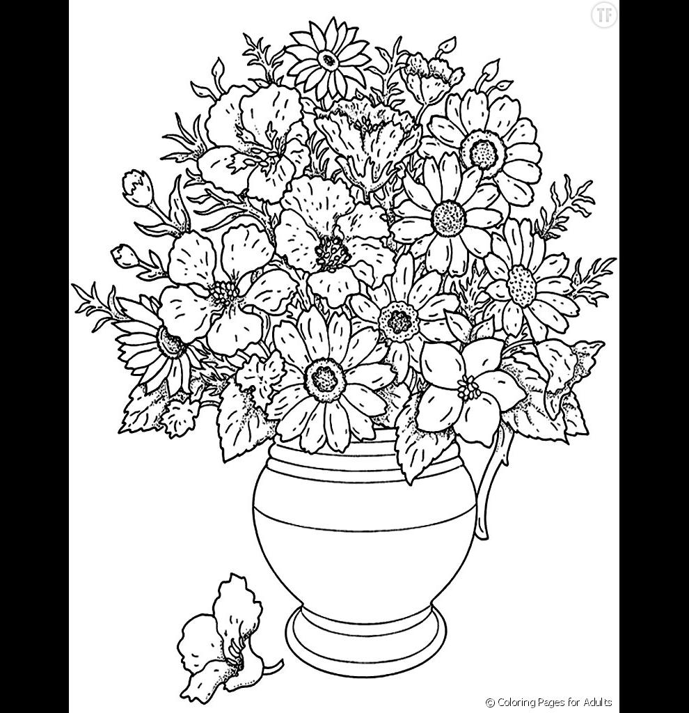 Coloriage Fleur Pot.Un Pot De Fleurs Terrafemina