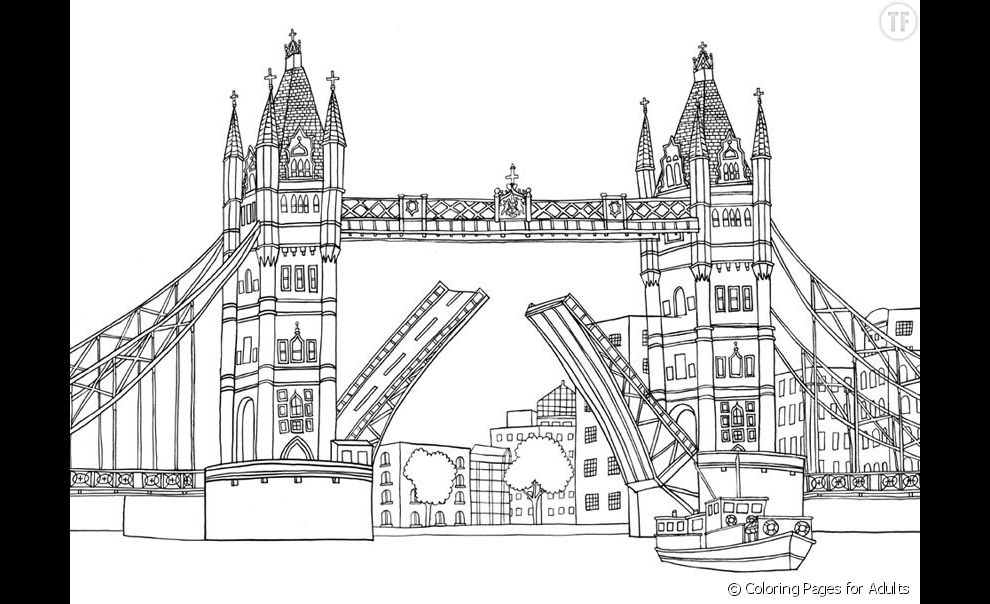 coloriage anti stress londres