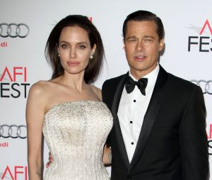 "Angelina Jolie et Brad Pitt à la première de ""By the Sea"" à Los Angeles le 5 novembre 2015"