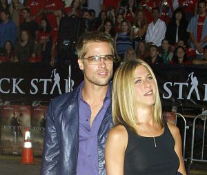 Brad Pitt et son ex-femme Jennifer Aniston en 2001