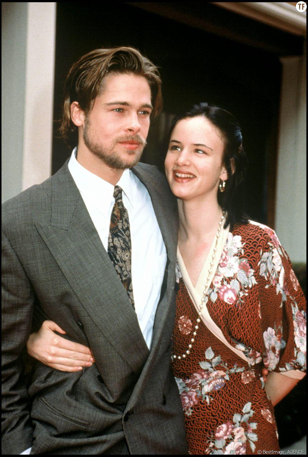 Brad Pitt et son ex-compagne Juliette Lewis en 1992
