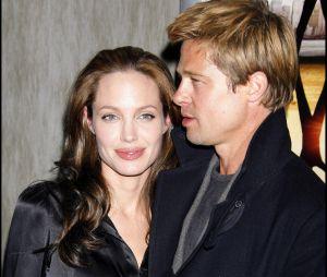 Brad Pitt et son ex-femme Angelina Jolie en 2007