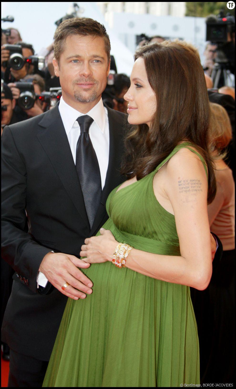 Brad Pitt et son ex-femme Angelina Jolie en 2008