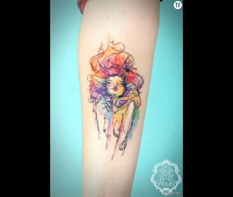 Tatouage Aquarelle Repere Sur Pinterest Idee N 5 Terrafemina