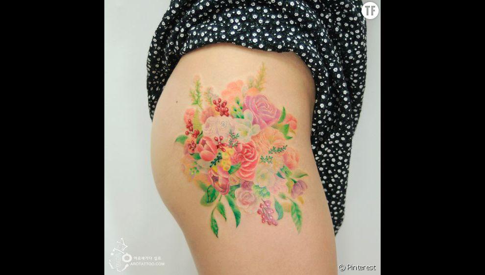 Tatouage aquarelle rep r sur pinterest id e n 7 for Pinterest aquarell