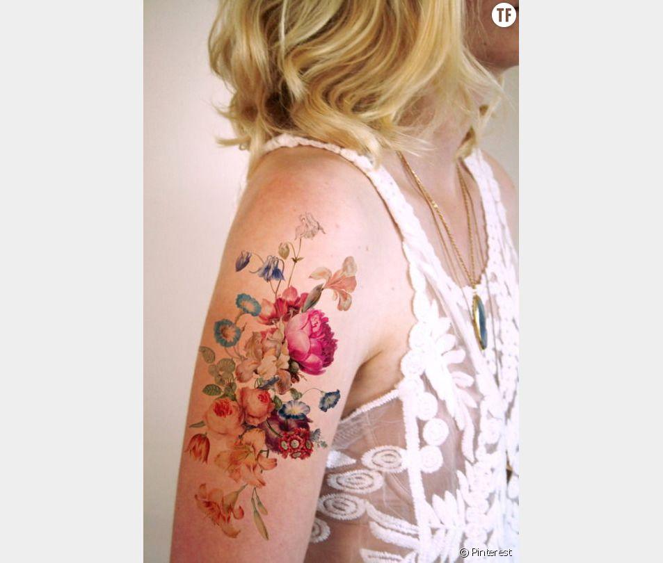 Tatouage aquarelle repéré sur Pinterest : idée n°1