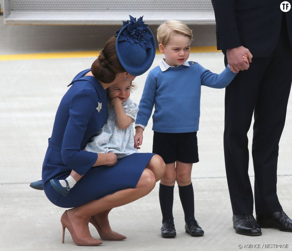 Kate Middleton s'adressant à Georges