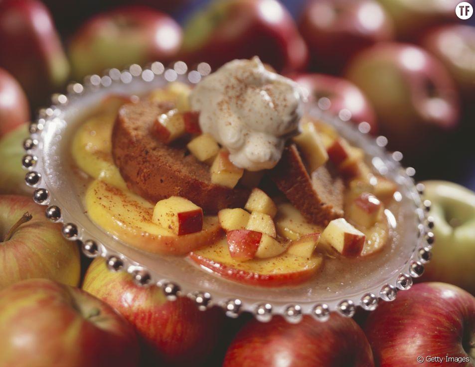 Des pommes fondantes à la cannelle