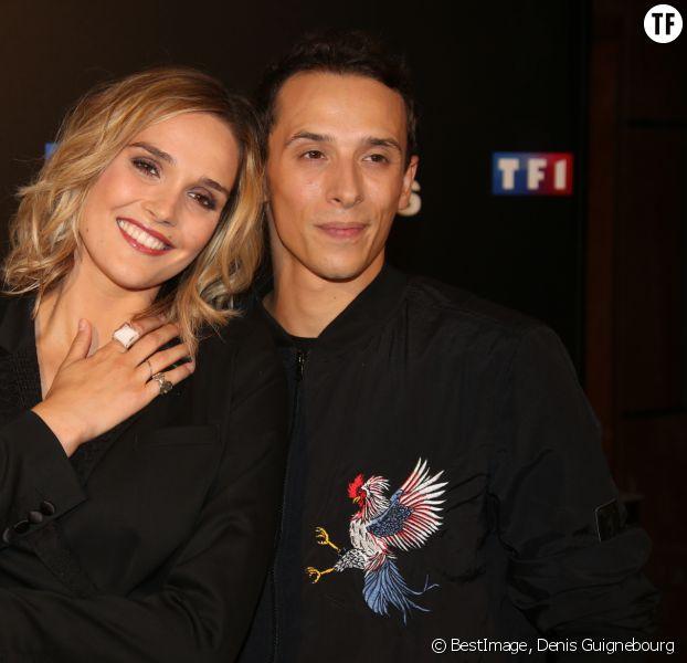 """Camille Lou et Grégoire Lyonnet au photocall de l'émission """"Danse Avec Les Stars saison 7"""", le 28 septembre 2016"""