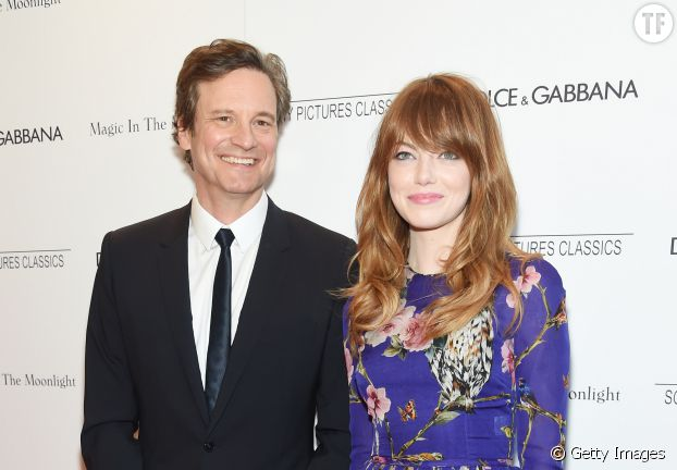 Colin Firth, 53 ans, couplé avec Emma Stone, 25 ans, dans Magic in the Moonlight